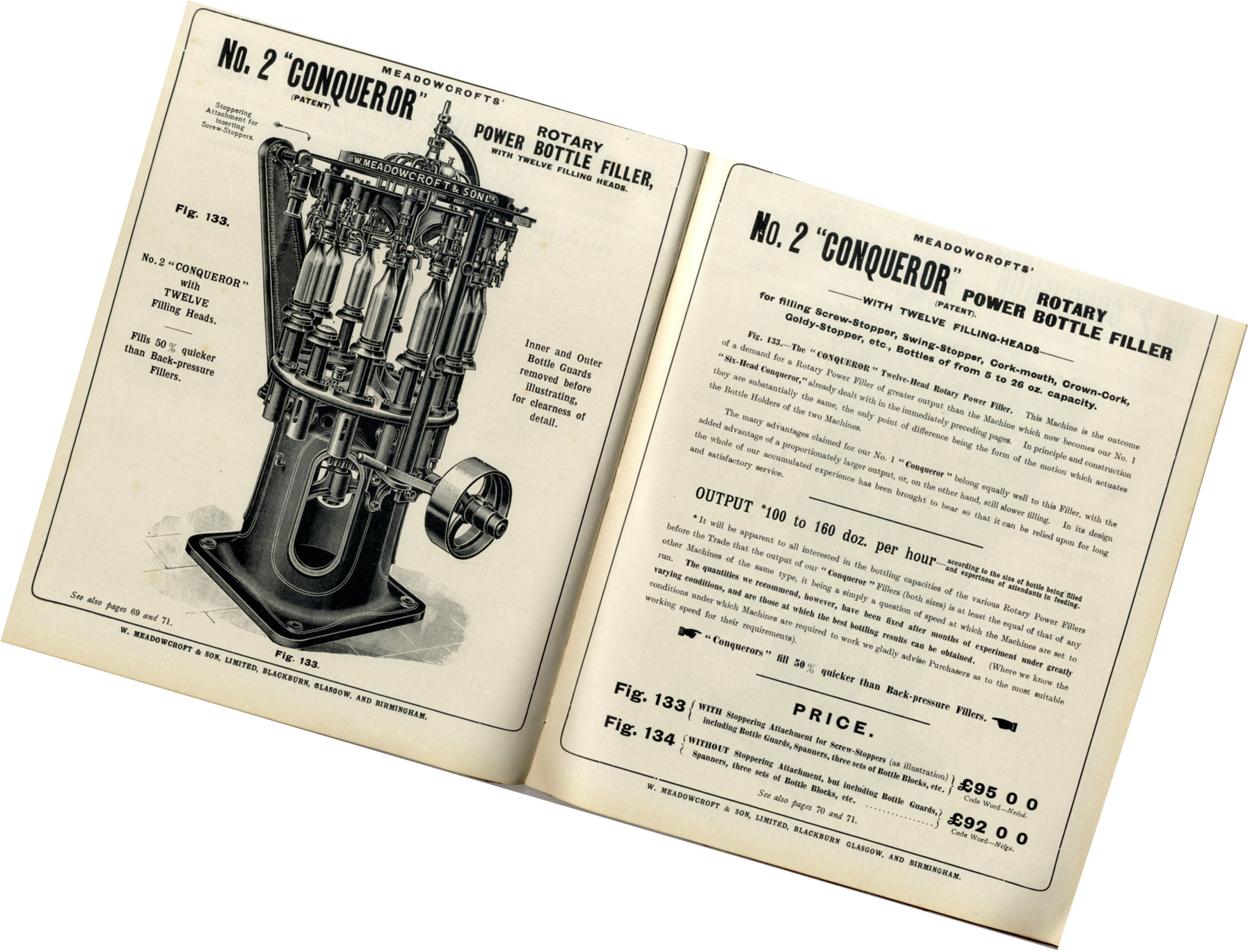 Meadowcroft Modern Aerated Water Machinery Trade Catalogue, No. 2 Conqueror
