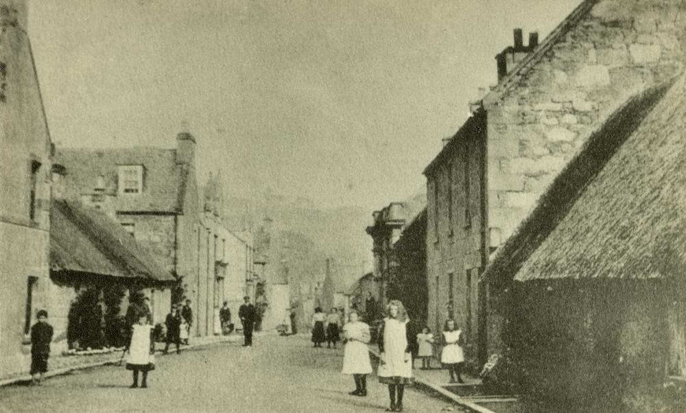 Rosemarkie High Street, probably 1900s