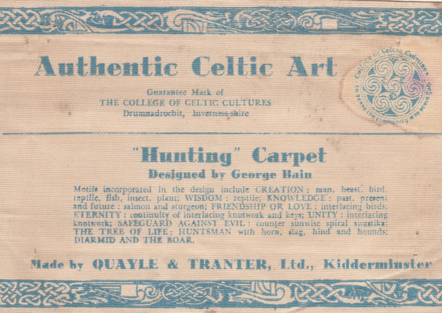 THE INTRIGUING TALE OF THE 'HUNTING' CARPET